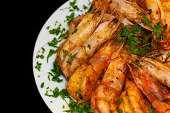 Cooked Shrimp Royalty Free Stock Photos