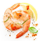 Cooked shrimp isolated Royalty Free Stock Photo