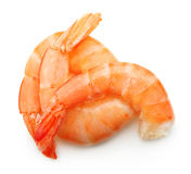 Cooked shrimp isolated Royalty Free Stock Images