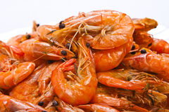 Cooked shrimps Stock Photography