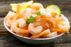 Cooked shrimps Stock Photos