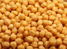 Cooked soaked chickpea beans close up background Stock Photo