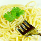 Cooked Spaghetti. Royalty Free Stock Images