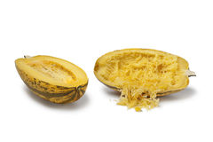 Cooked spaghetti squash Royalty Free Stock Image