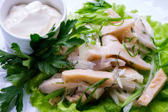 Cooked squid Royalty Free Stock Photo