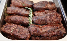 Cooked steaks rib eye Royalty Free Stock Images