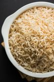 Cooked or steamed Brown basmati rice served in bowl stock images
