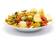Cooked Stew Vegetables. Dish Isolated royalty free stock photos
