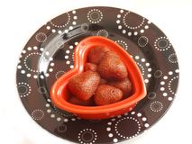 Cooked strawberries Royalty Free Stock Photo