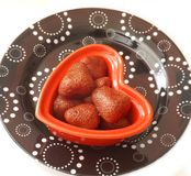 Cooked strawberries Royalty Free Stock Photos