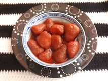 Cooked strawberries Royalty Free Stock Images