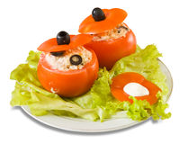 Cooked  stuffed tomato salad Stock Photo
