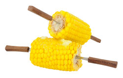 Cooked Sweet Corn Portions Stock Photo
