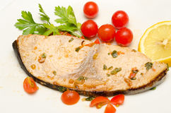 Cooked swordfish Stock Images