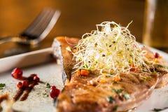 Cooked swordfish Stock Photography