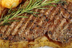 Cooked T-bone steak Royalty Free Stock Photography