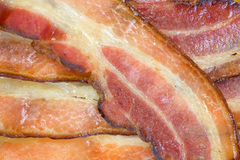 Cooked thick sliced smoked bacon Royalty Free Stock Photos
