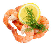 Cooked Tiger Prawns Royalty Free Stock Photos