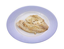 Cooked tilapia on plate Stock Photo