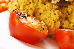 Cooked tomatoes with black pepper seasoning Royalty Free Stock Photography