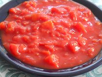 Cooked tomatoes Stock Photo