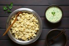 Cooked Tortellini Stock Photo