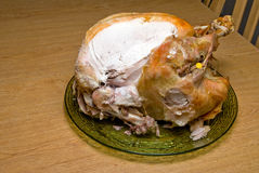 Cooked Turkey stock images