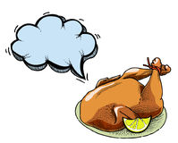 Cooked turkey-100. Cartoon image of cooked turkey. An artistic freehand picture vector illustration