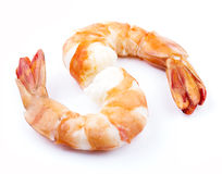 Cooked unshelled tiger shrimps Royalty Free Stock Photography