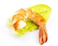 Cooked unshelled tiger shrimps Stock Image
