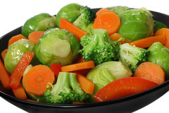 Cooked vegetables Stock Photography