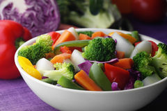 Cooked vegetables in a bowl