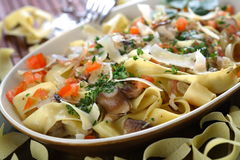 Cooked vegetables with pasta Stock Photos