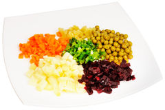 Cooked vegetables salad Stock Image