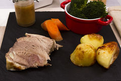 Cooked Welsh Lamb shoulder Stock Images