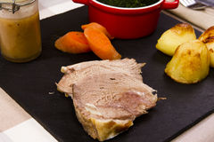 Cooked Welsh Lamb shoulder Stock Photos