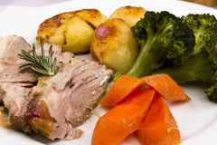 Cooked Welsh Lamb shoulder Royalty Free Stock Photography