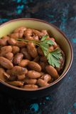 Cooked white beans. Cooked white kidney beans ready for eating stock photo