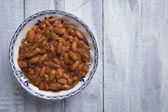 Cooked white beans. Cooked white kidney beans ready for eating royalty free stock images