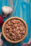 Cooked white beans. Cooked white kidney beans ready for eating royalty free stock photography