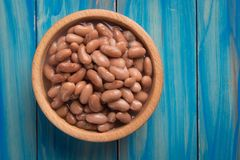 Cooked white beans. Cooked white kidney beans ready for eating stock images