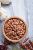 Cooked white beans. Cooked white kidney beans ready for eating stock photography