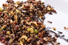 Cooked Wild Rice Cereal Royalty Free Stock Images