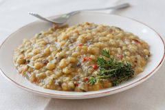 Cooked yellow peas Stock Images