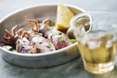 Cookedcalamari Stock Images