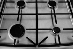 Cooker burners Royalty Free Stock Image
