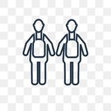 Cooker couple vector icon isolated on transparent background, li stock illustration