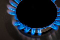 Cooker fire. Image of cooker fire representing gas use and consumption Stock Photos