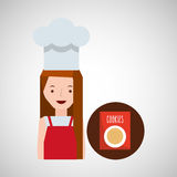 Cooker girl cookie mix Stock Image