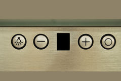 Cooker hood control panel Royalty Free Stock Photography